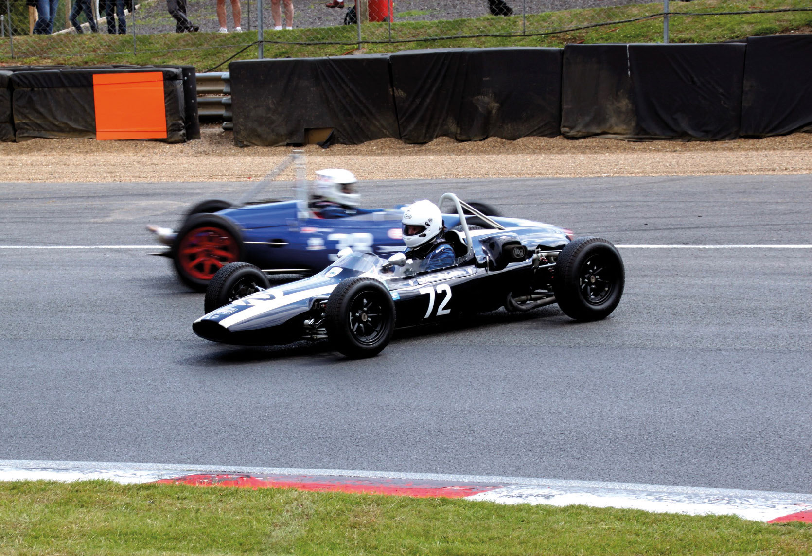 Brands Hatch Superprix: Dreher des Belgiers Tom de Cres im Cooper T 59-Formel Junior